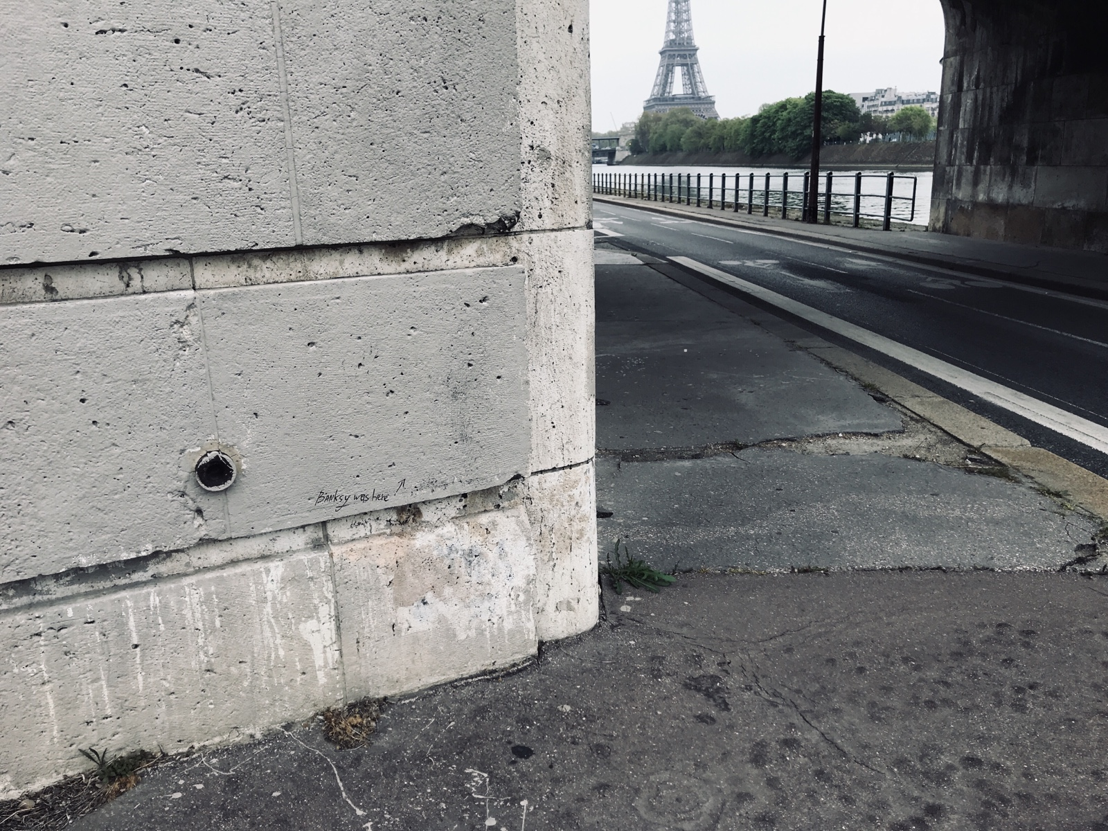 Banksy Eiffel Paris Under The Bridge